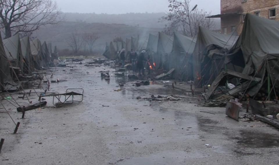 Refugee camp in Harmanli